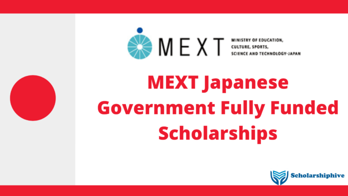 MEXT Japanese Government Fully Funded Scholarships