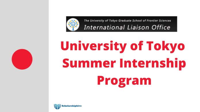 University of Tokyo Summer Internship Program